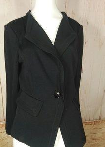 St. John Santana Knit sweater jacket black size 6